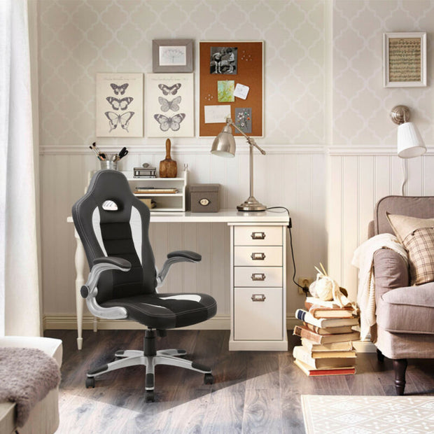 Ergonomic PU Leather Desk Swivel Seat
