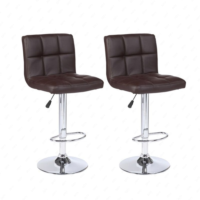 Modern Set of  Adjustable 2 Bar Stools Pub Chair in Multi Colors - Toyzor.com