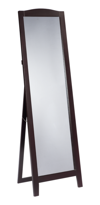 Cherry Finish Wood Frame Floor Standing Mirror