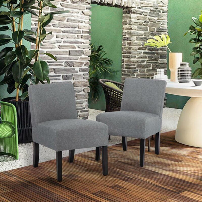 Set Of 2 Upholstered Accent Sofa Club Side Chair