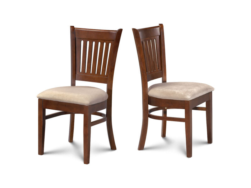 KITCHEN DINING CHAIRS WITH PADDED SEAT IN  ESPRESSO FINISH - SET OF 4