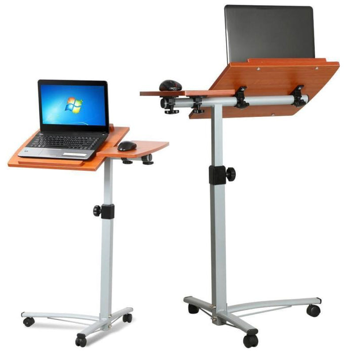 Rolling Laptop Cart Desk Table Top
