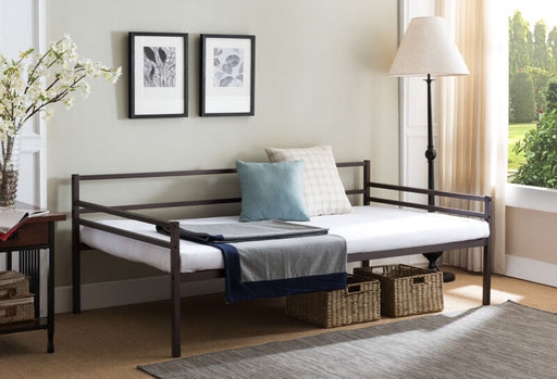 Modern Bronze Metal Twin Size Daybed Frame with Metal Slats Support