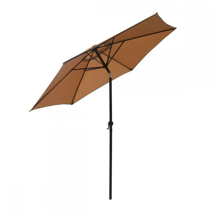 Patio Umbrella 9' Aluminum Outdoor Patio Market Umbrella Tilt W/ Crank