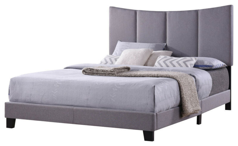 Corinth Smoke Gray King Size Upholstered Bed