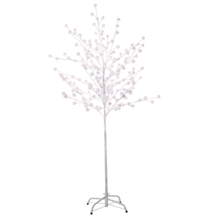 180 LED Christmas Xmas White Snow Tree - 5ft - Toyzor.com