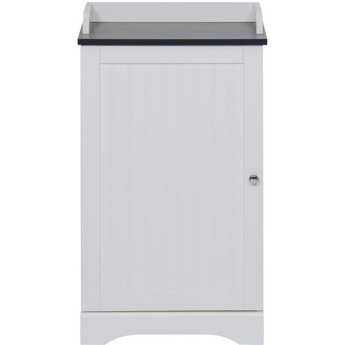 Bathroom Floor Storage Cabinet w/ Versatile Door