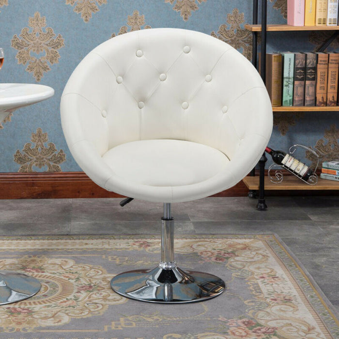 Pleasing Adjustable Modern Round Tufted Back Accent Salon Vanity Chair Pub Counter Stools Cjindustries Chair Design For Home Cjindustriesco