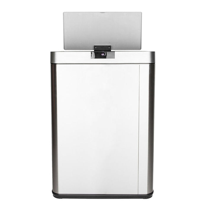 Stainless Steel Automatic Trash Can Sensor Touchless Kitchen Bin + Lid