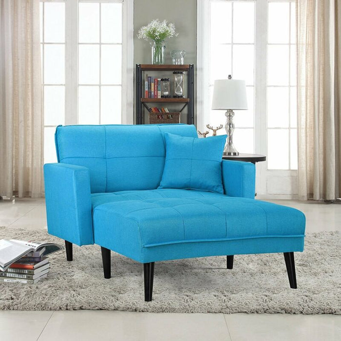 Fabric Recliner Sleeper Chaise Lounge Futon Sleeper Single