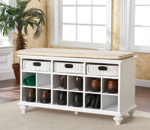 Entryway Bench-White