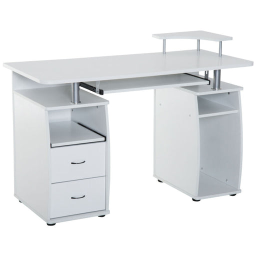 Computer Desk PC Table Workstation Monitor & Printer Shelf