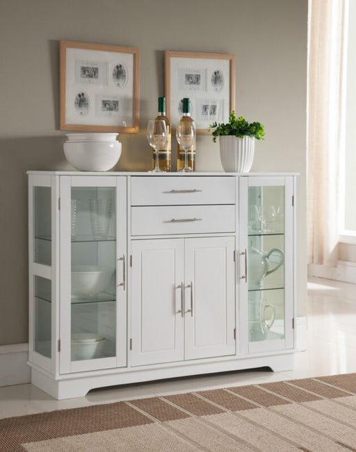 Kitchen Cabinet Storage Buffet With Glass Doors