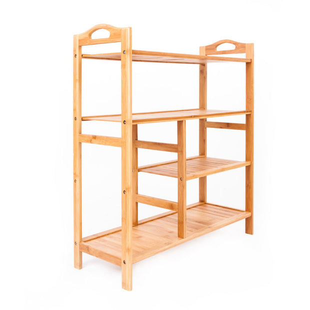 4 Tier Bamboo Shoe Rack