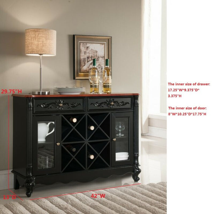 Buffet Server Wine Cabinet Console Table