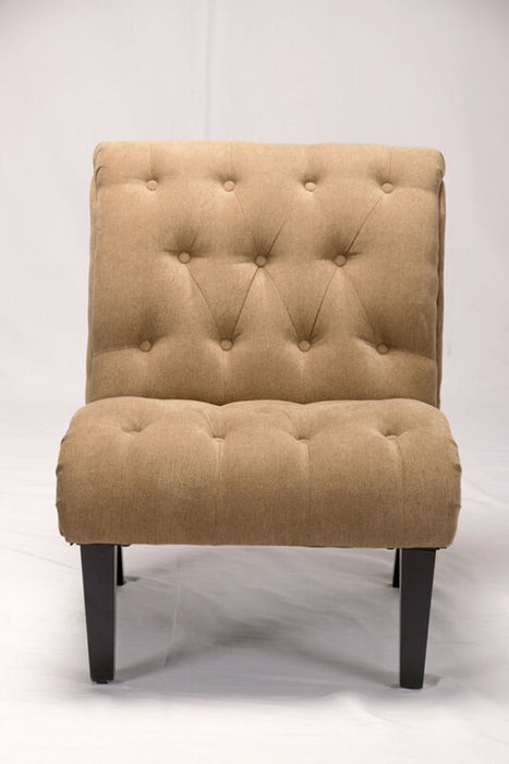 Button Tufted Accent Chair Upholstered Lounge Armless