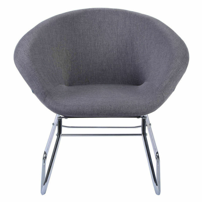 Modern Gray Accent Chair Leisure Arm Sofa Lounge