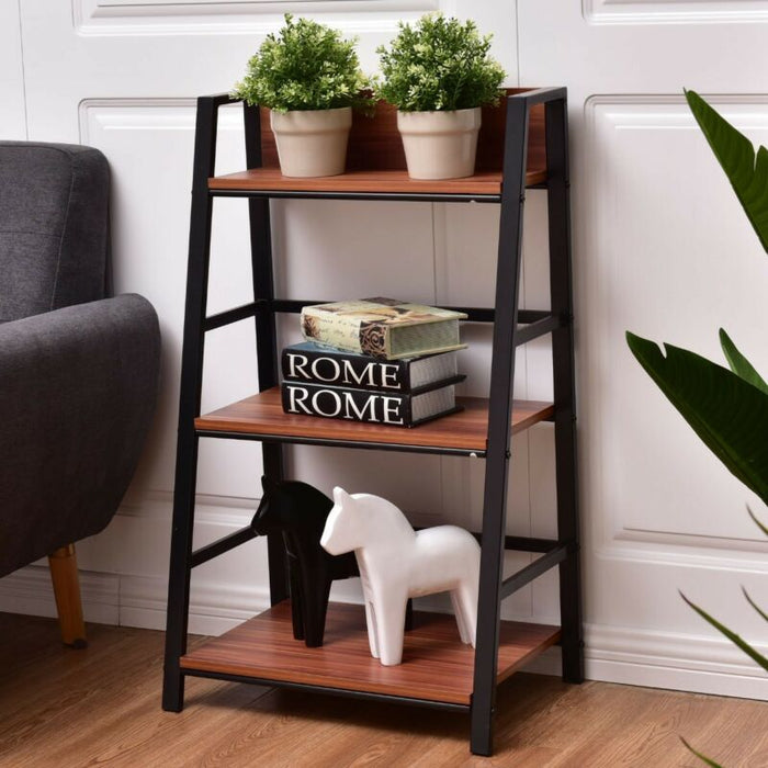 3-Tier Modern Ladder Bookshelf