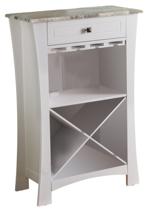 Bar Cabinet Wine Storage With Glass Holders & Drawer