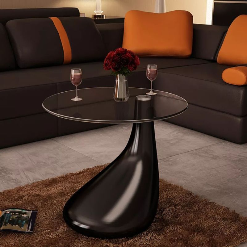 High Gloss Coffee Side Table 1/2 pcs - Toyzor.com