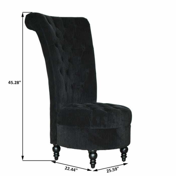 Modern Lint Chair Tufted Backrest Leisure