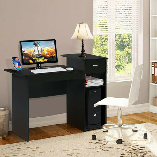 Computer Study Writing Desk Table Small Spaces with Drawer