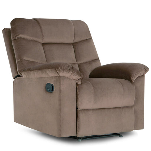 Overstuffed Full Recliner Lounge Extra Padded Microfiber Armrest Chair