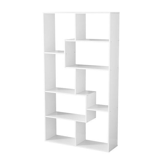 Modern  Shelf - Cubby - Bookshelf - White /Brown - Toyzor.com