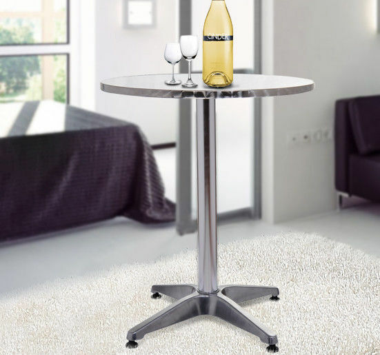 Modern Round Bar Table Adjustable Bistro Pub