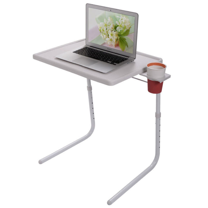 Portable Adjustable Foldable Desk  W/Cup Tray - Toyzor.com