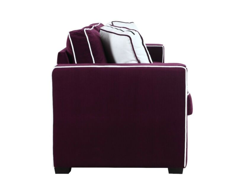 Modern Two Tone Colorful Velvet Fabric Living Room Sofa