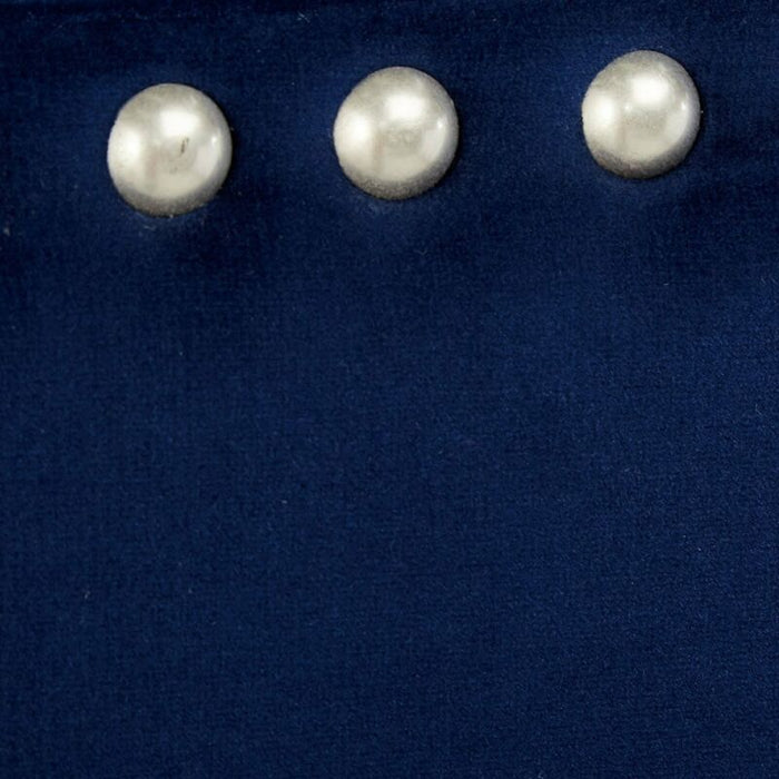 Blue Velvet Nailhead Trim Full Size Upholstered Bed