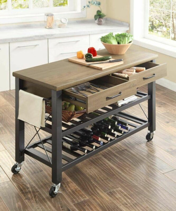 Kitchen Rolling Island Cart/Trolley