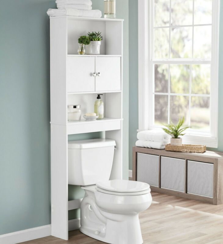 Bathroom Over The Toilet Storage Cabinet (White)