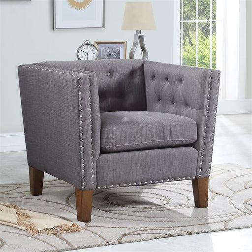 Grey Accent Club Chair