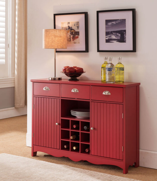 Buffet Server Console Table With Wine Storage