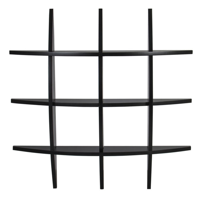 Cross Wood Wall Shelf Black - Toyzor.com