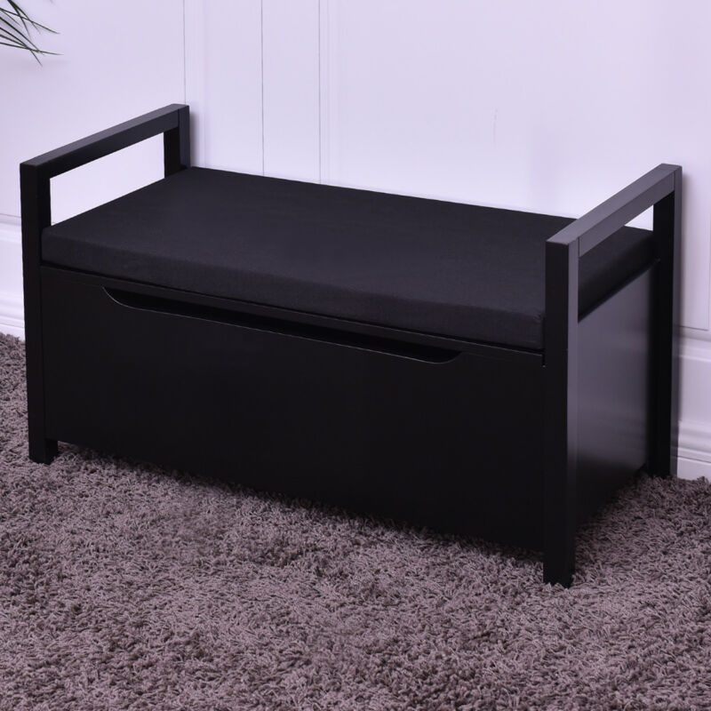 Shoe Bench Storage Rack Cushion Seat Ottoman