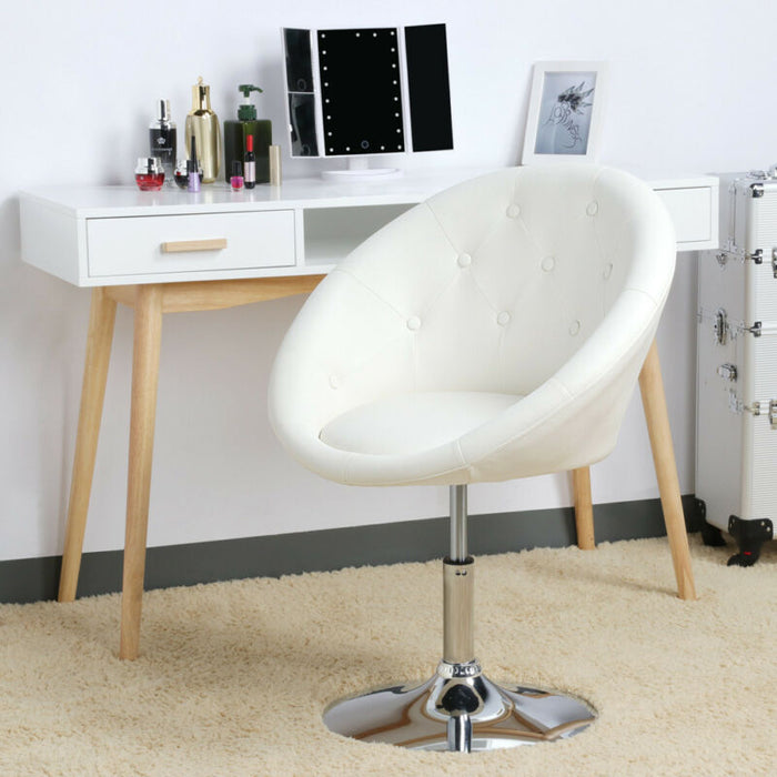 Wondrous Adjustable Modern Round Tufted Back Accent Salon Vanity Chair Pub Counter Stools Forskolin Free Trial Chair Design Images Forskolin Free Trialorg