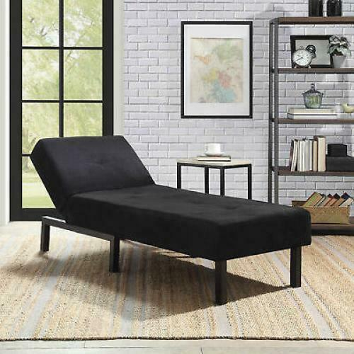 Black Chaise Lounge Chair Bedroom Couch