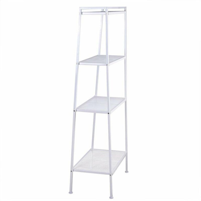 4-Tier Ladder Storage Bookcase Leaning Wall Shelf