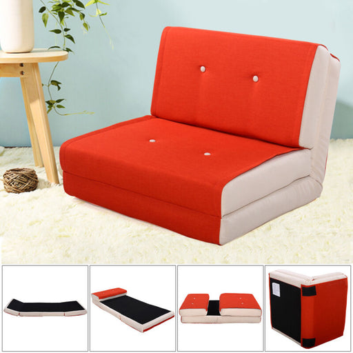 Modern Fold Down / Flip Out Lounger Convertible Sleeper Bed Couch