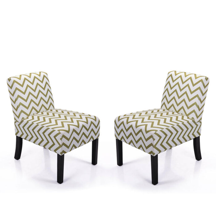Armless Accent  Chair Sofa  Wood Legs Set of 2