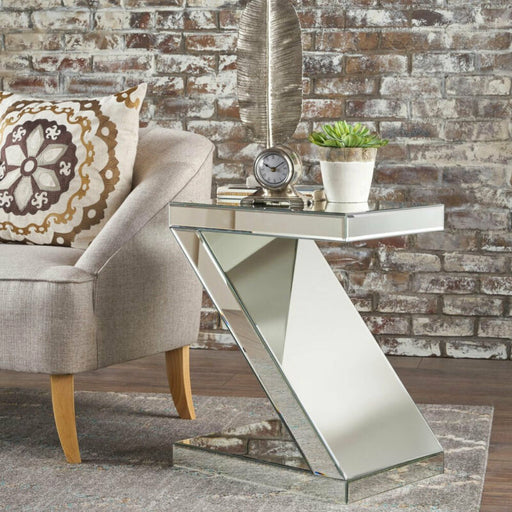 Mirrored Side End Accent Coffee Table