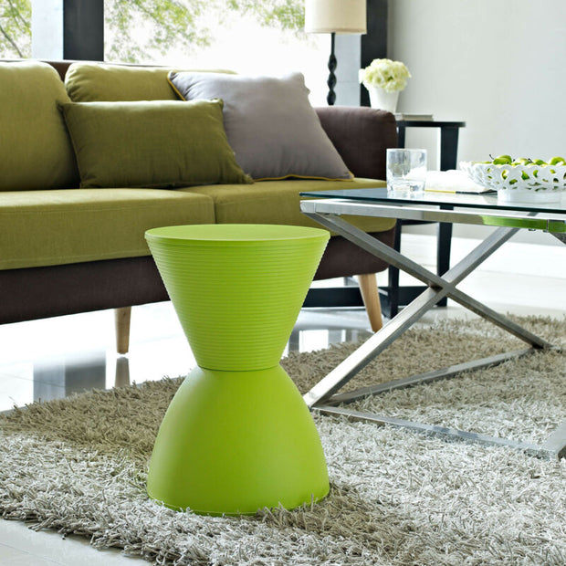 Green Accent Side Table Storage Stool
