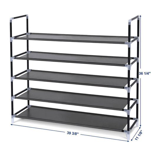 Space Saving 5 Tier Cabinet Storage Shoes Shelves Organizer