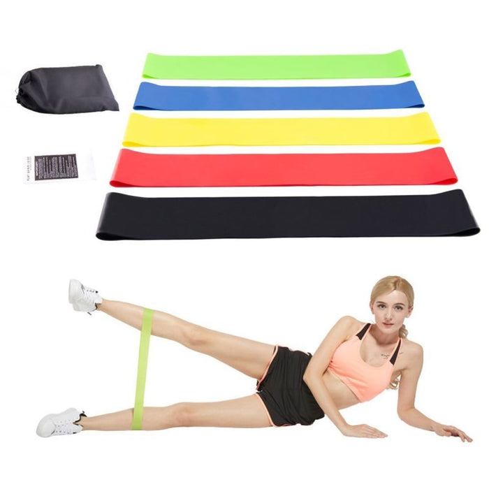 Resistance Exercise Bands Set Workout Train Loop Elastic Stretch Fitness Arm Leg