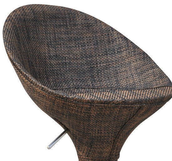 Adjustable Swivel Bistro Pub Dining Chair wicker
