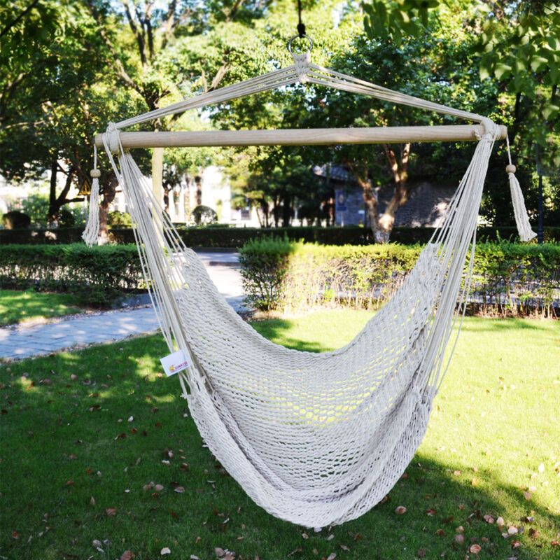 Hanging Tree Swing Cotton Rope Hammock Chair