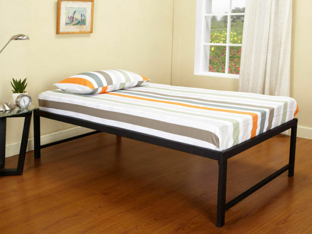 Black Metal Twin Size Platform Daybed Bed Frame